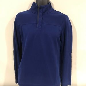 Banana Republic 1/4 Zip Military M Blue